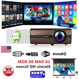 Home Theater LCD Projector Bluetooth 1080PWIFI HDMI Electric