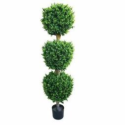Pure Garden 5' Indoor/Outdoor Romano Hedyotis Triple Ball To