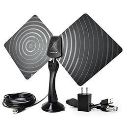 Indoor TV Antenna 50 Mile Range Ultra-Thin,High Performance