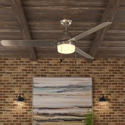 Industrial Warehouse Indoor/Outdoor 60 In. Brushed Nickel Ce
