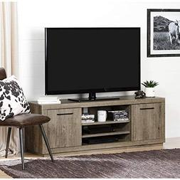 South Shore Kanji Modern Farmhouse TV Stand with 2 Doors for