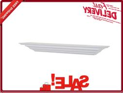 L Crown Molding Floating Shelf Wall Bookshelf White 51/4 X 6