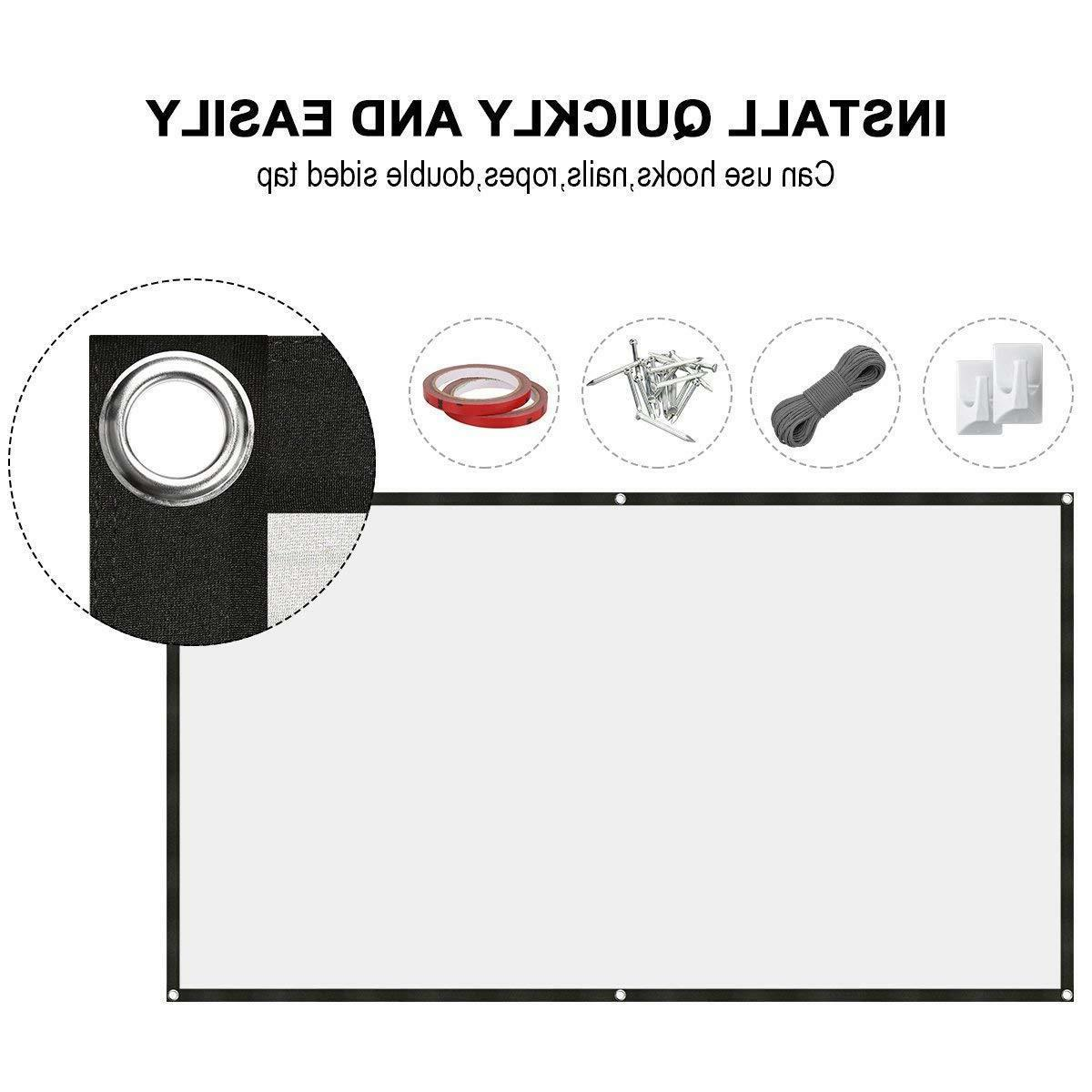120 Portable Projector Screen Foldable HD Movie
