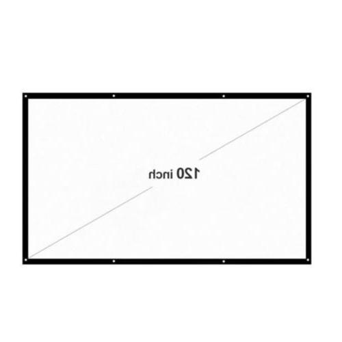 120inch Portable Foldable Projector Screen HD Theater