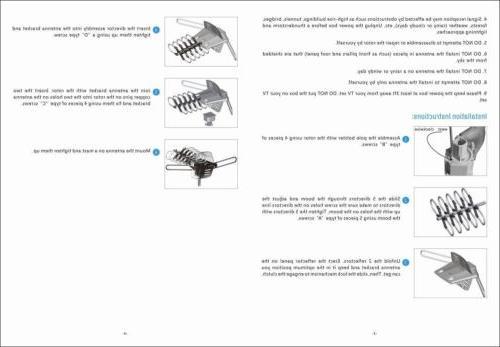 150Mile HDTV Amplified TV 360° Rotor UHF VHF
