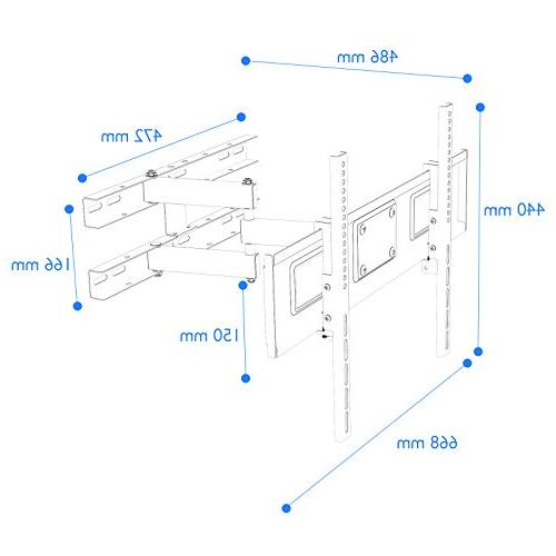 1homefurnit Bracket Cantilever Tilt Wall 37 40 46 47 60 63 LCD Screen