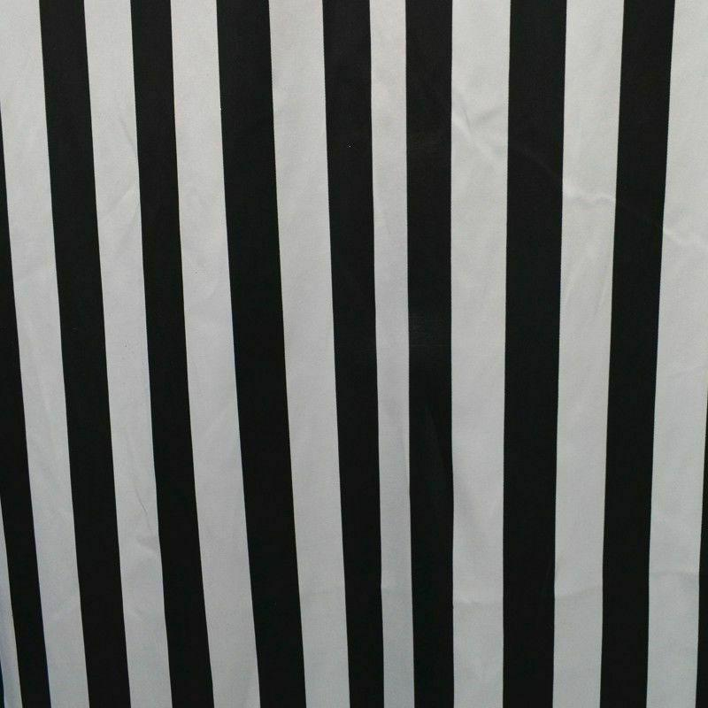 "25 Black White 60"" Inch Wide Stripe Quality USA"