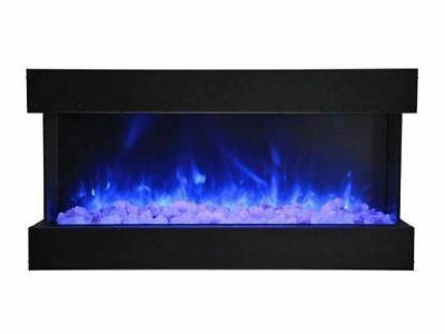 """Amantii Tru View Series  3 Sided 60"""" Wide Electric Fireplace"""