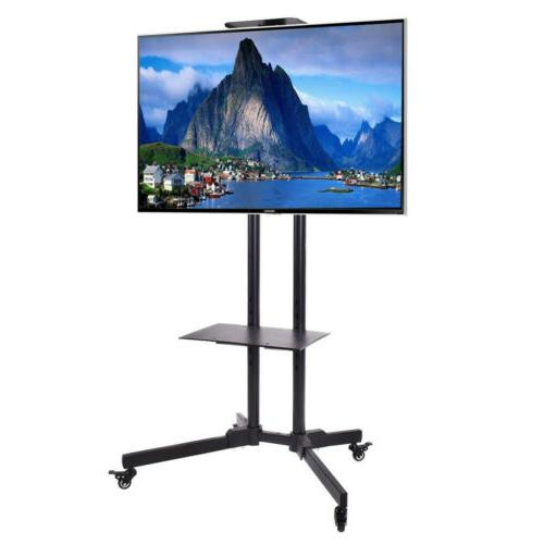 "32-70"" Rolling TV Stand Mount LCD LED Plasma Console TV Brac"