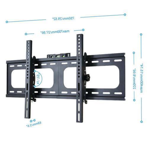 "32-75"" LCD Plasma Slim Tilt Wall Mount Bracket Up to"