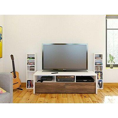 Nexera 400615 Liber-T 60-inch TV Stand with Two CD/DVD Tower
