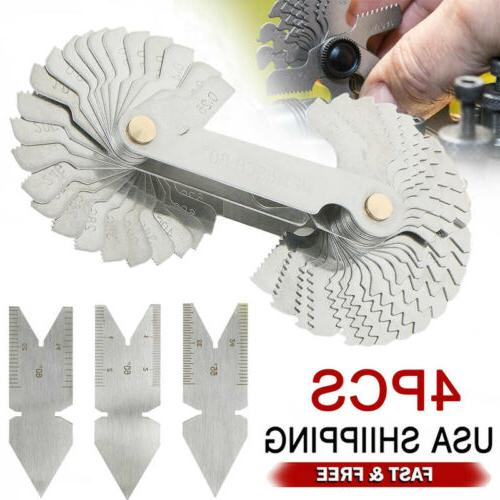 4pcs screw thread cutting gauge tool set