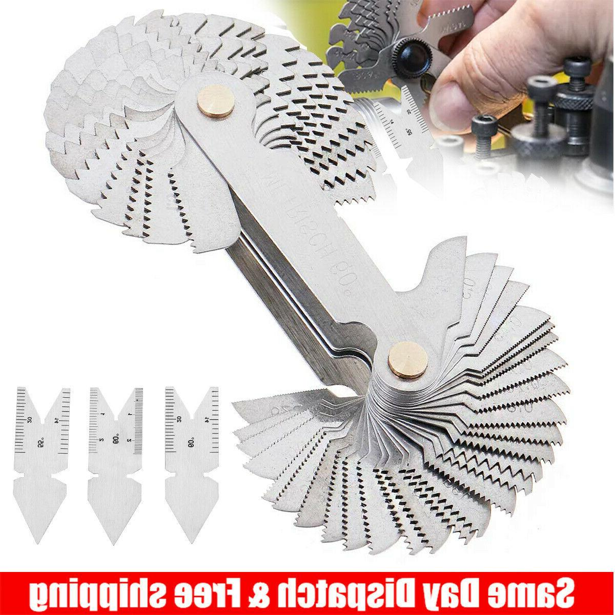 4pcs screw thread pitch cutting gauge tool