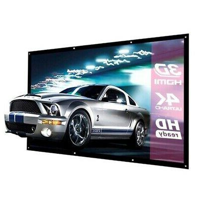 "60""-150"" Inch Projector 16:9 HD Foldable Projection Screen US"