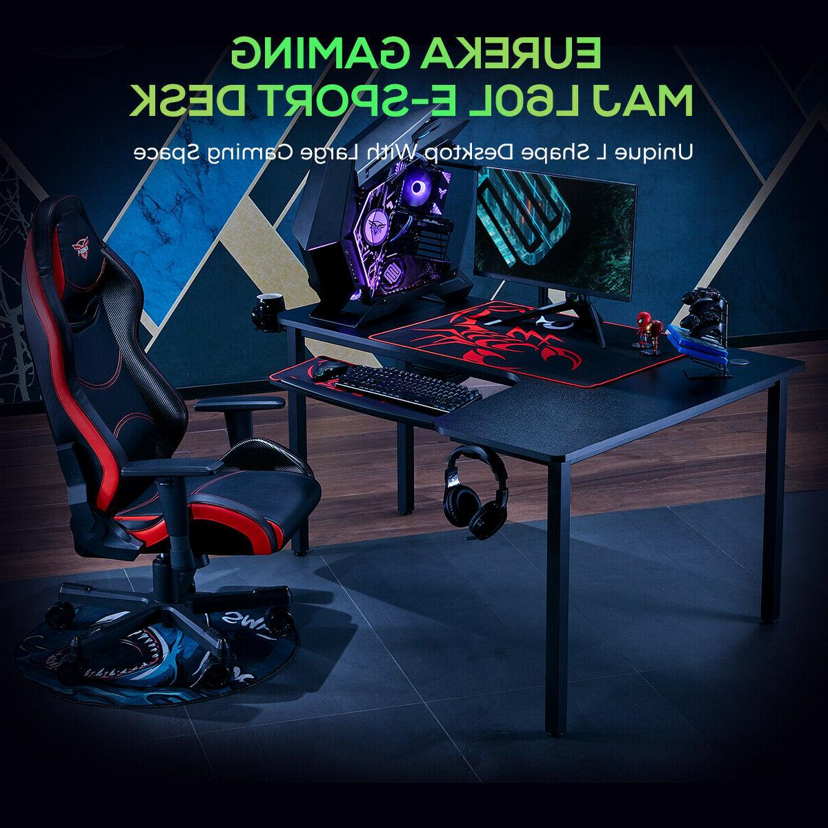 Eureka 60 Inch Gaming Desk Home Black