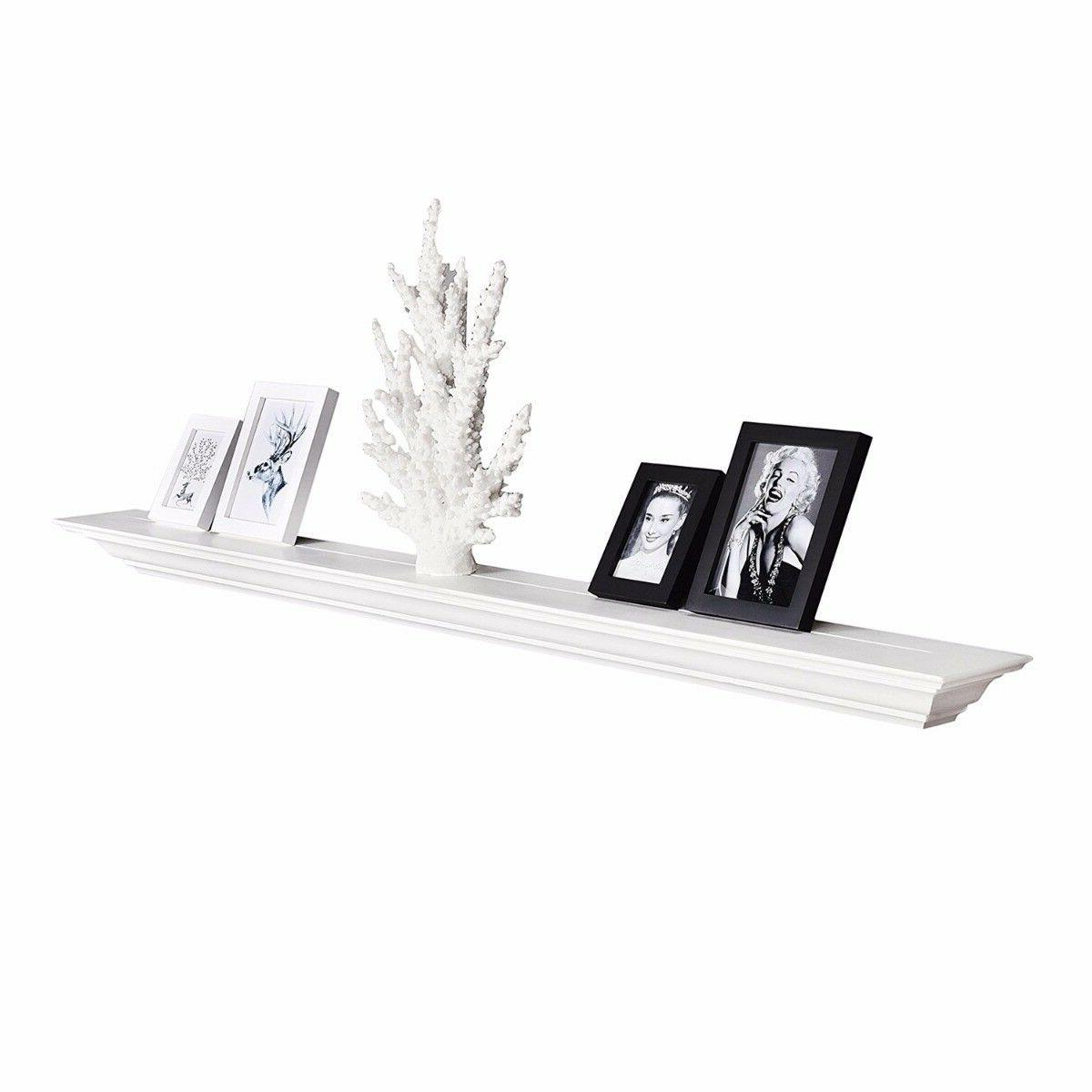 60 inch crown floating wall shelf painted