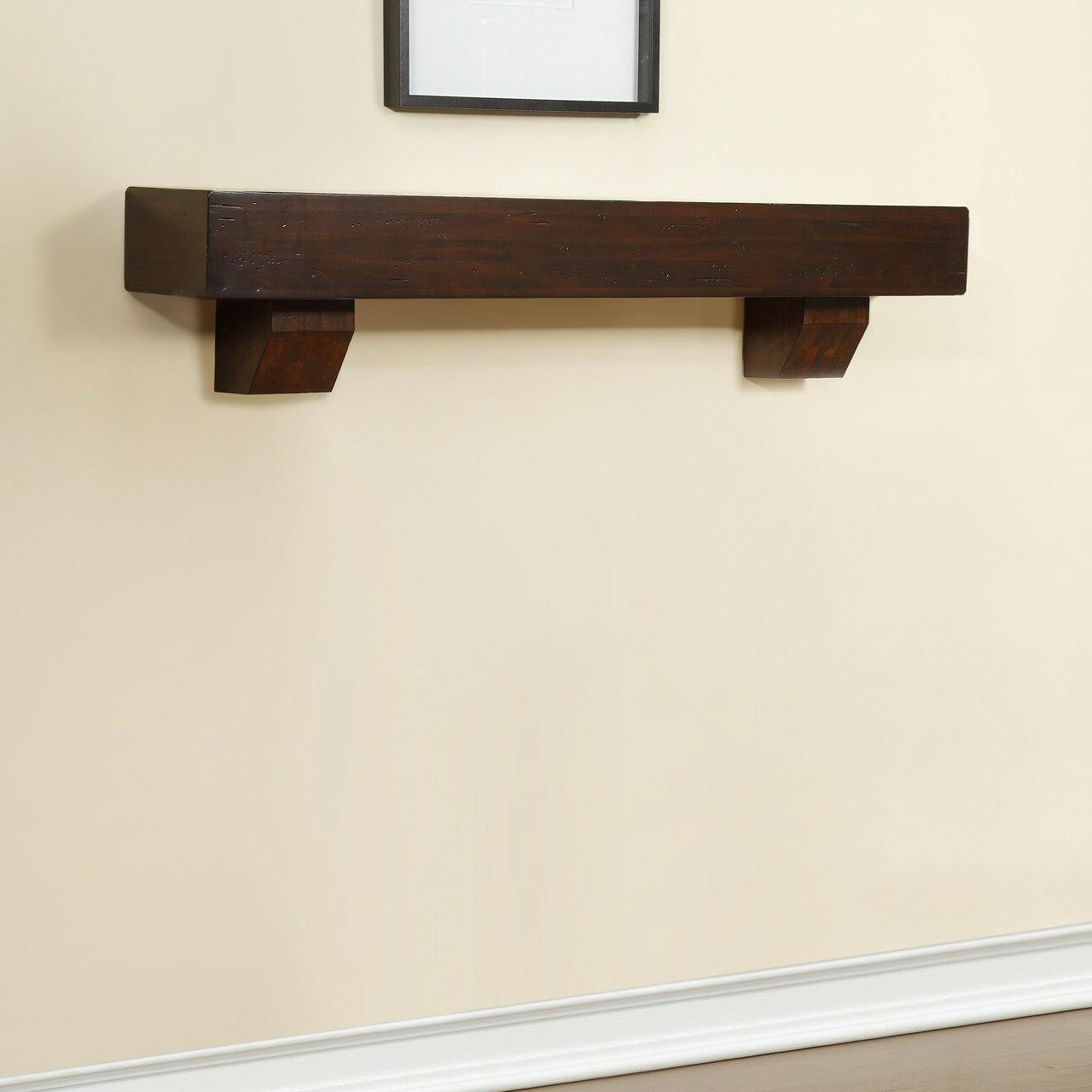 Duluth Fireplace Shelf Mantel Corbels - Chocolate Finish