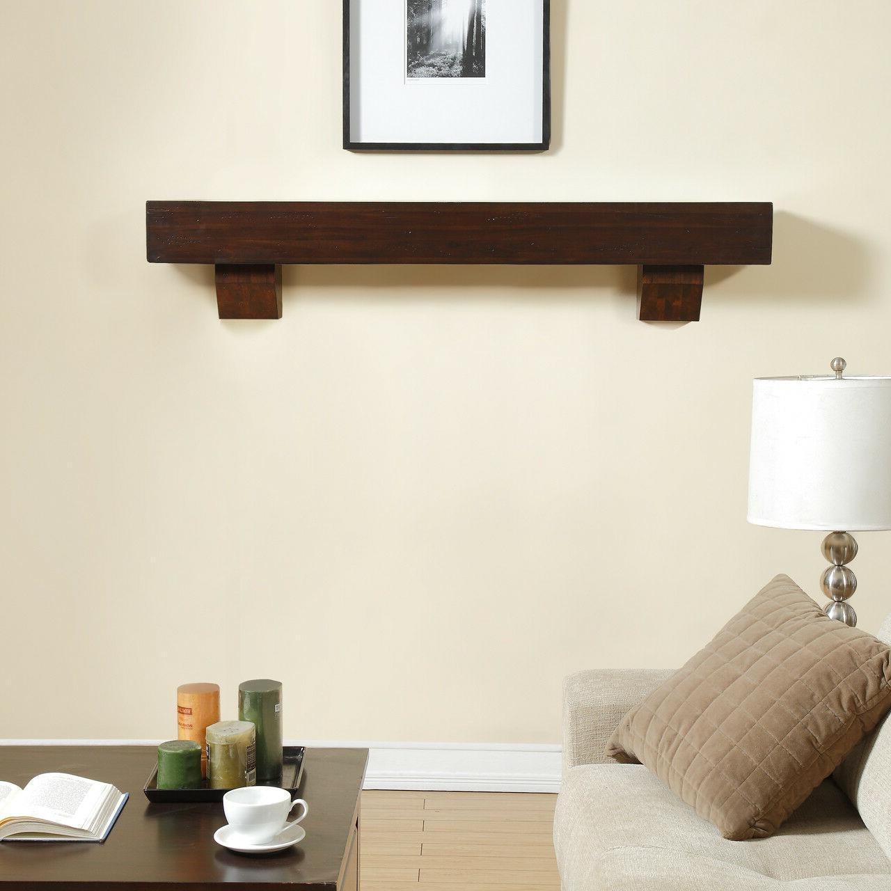 60 inch fireplace shelf mantel with corbels