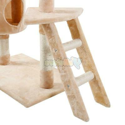 "60"" Pet House Cat Tree Tower Condo Scratcher Tool"
