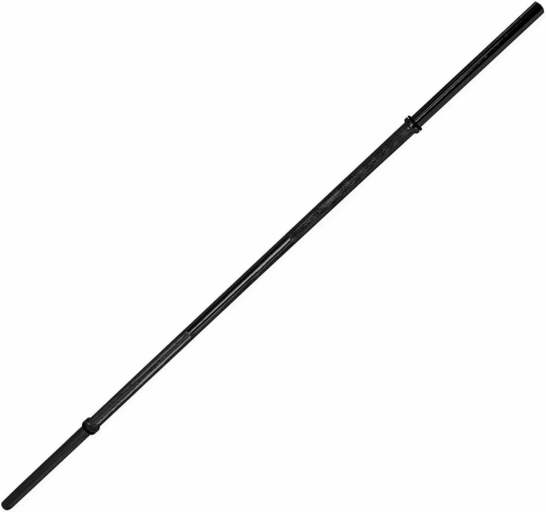 60 inch solid standard bar black barbell