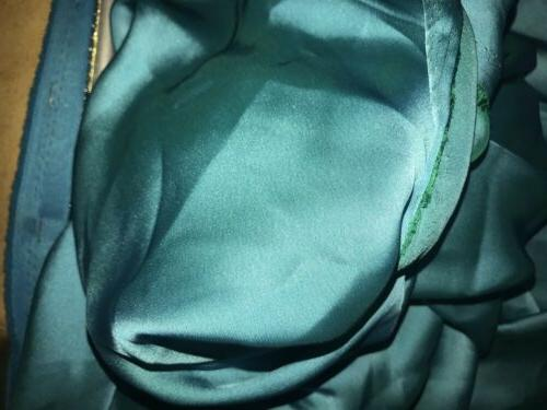 60 Inch wide Turquoise Silk Satin Craft Decor dress Bridal