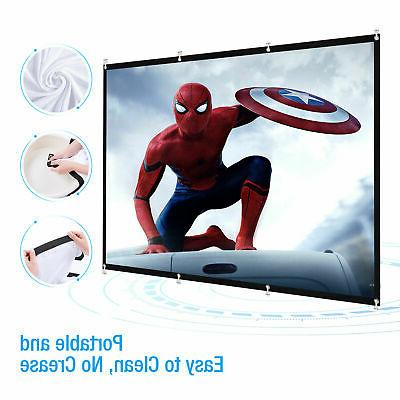 "60"" inch Portable HD Wall Foldable 16:9 Theater"