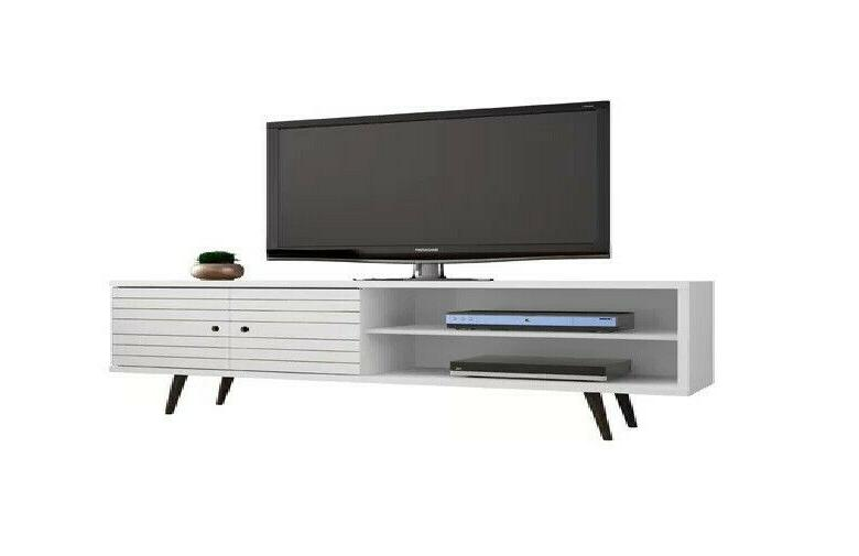 Walker Wooden Stand Console White Finish