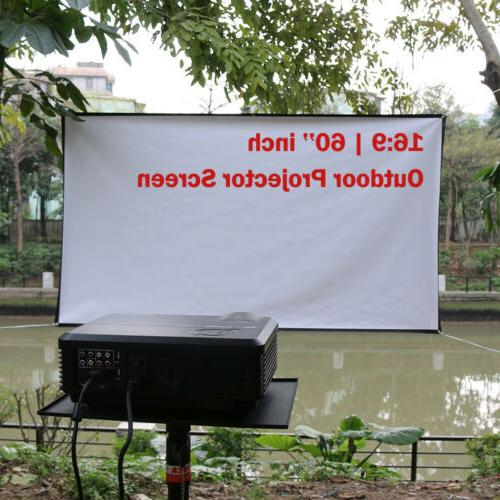 60Inch 16:9 HD Screen Outdoor Movie Theater Projection