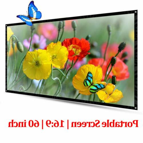 60inch 16 9 hd projector screen portable