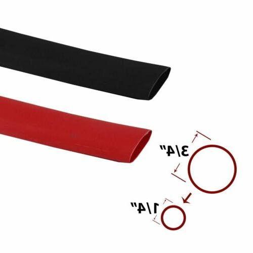 "60Inch Red + Black 3/4""Inch 3:1 Heat Shrink Tube Sleeving Ma"