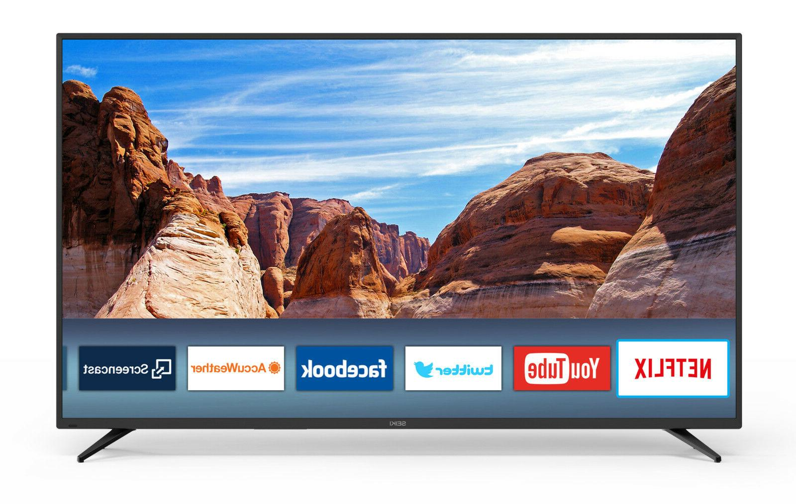 "New Seiki 65"" Class 4K Ultra HD  Smart LED TV With Easy-to-u"