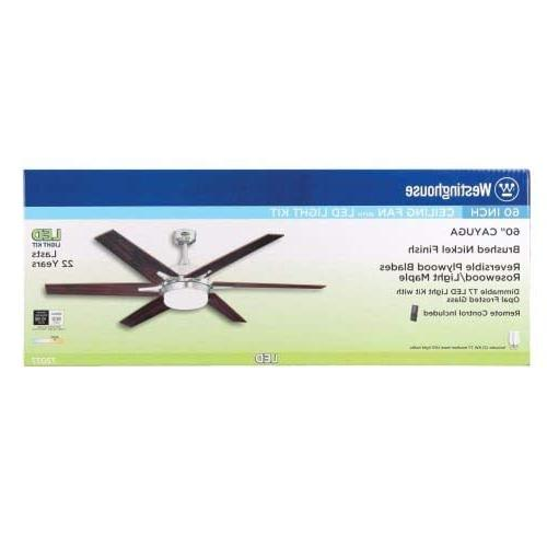 Westinghouse 60-inch Nickel Ceiling Light Kit Frosted