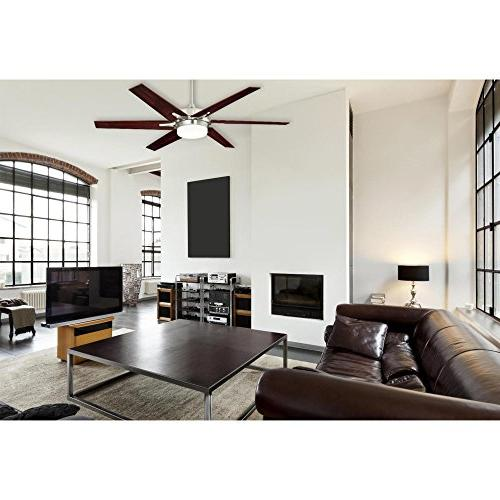 Westinghouse Lighting 60-inch Brushed Nickel Ceiling Fan, Frosted