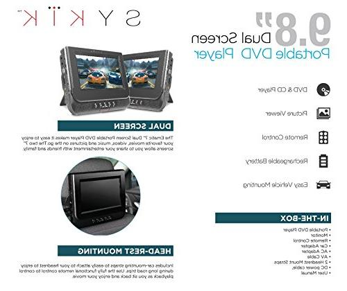 Sykik screen portable with built-in rechargeable For use in car , home or go. worldwide USB