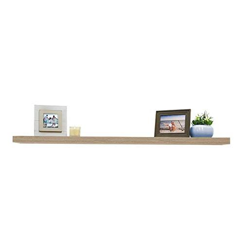 Lewis Shelf with Invisible Bracket, 60 Inch, Driftwood