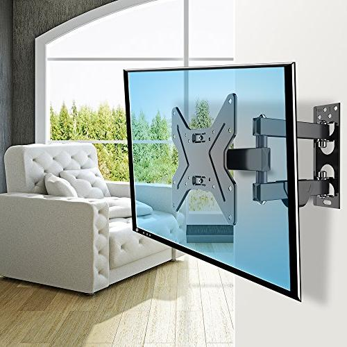 """FLEXIMOUNTS Wall Bracket for Most inch TV Full with Articulating 15.4"""" Extension Arm Swivel Tilt Plasma"""