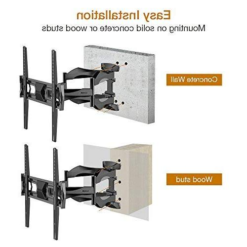 "Fleximounts TV Wall Mount Long Extension Bracket Full Motion Articulating & Tilt 32""-60"" LED Plasma Screen VESA 400x400mm"