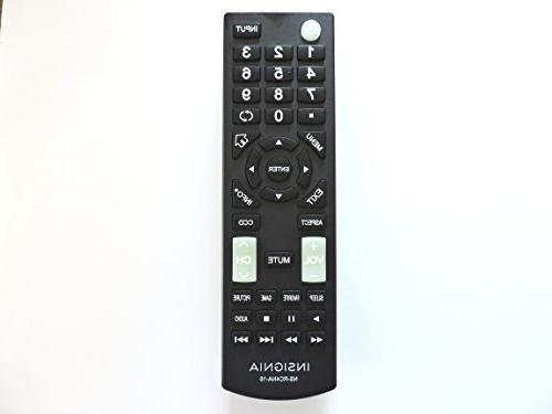 Insignia™ - Remote For Select Insignia™ Tvs - Bl