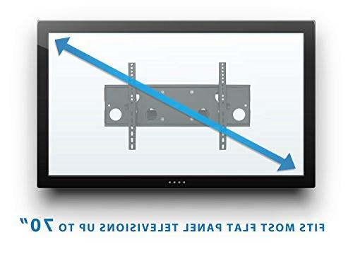 "Mount-It! Articulating Wall Mount 32"" – 65"" Flat TVs, Motion, 165 Lbs Black"