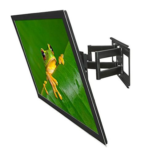 "Mount-It! Full Motion Wall Mount for 18'', 24'' studs, Fits - 65"" LCD LED screen curved up to 165 HDMI Cable"