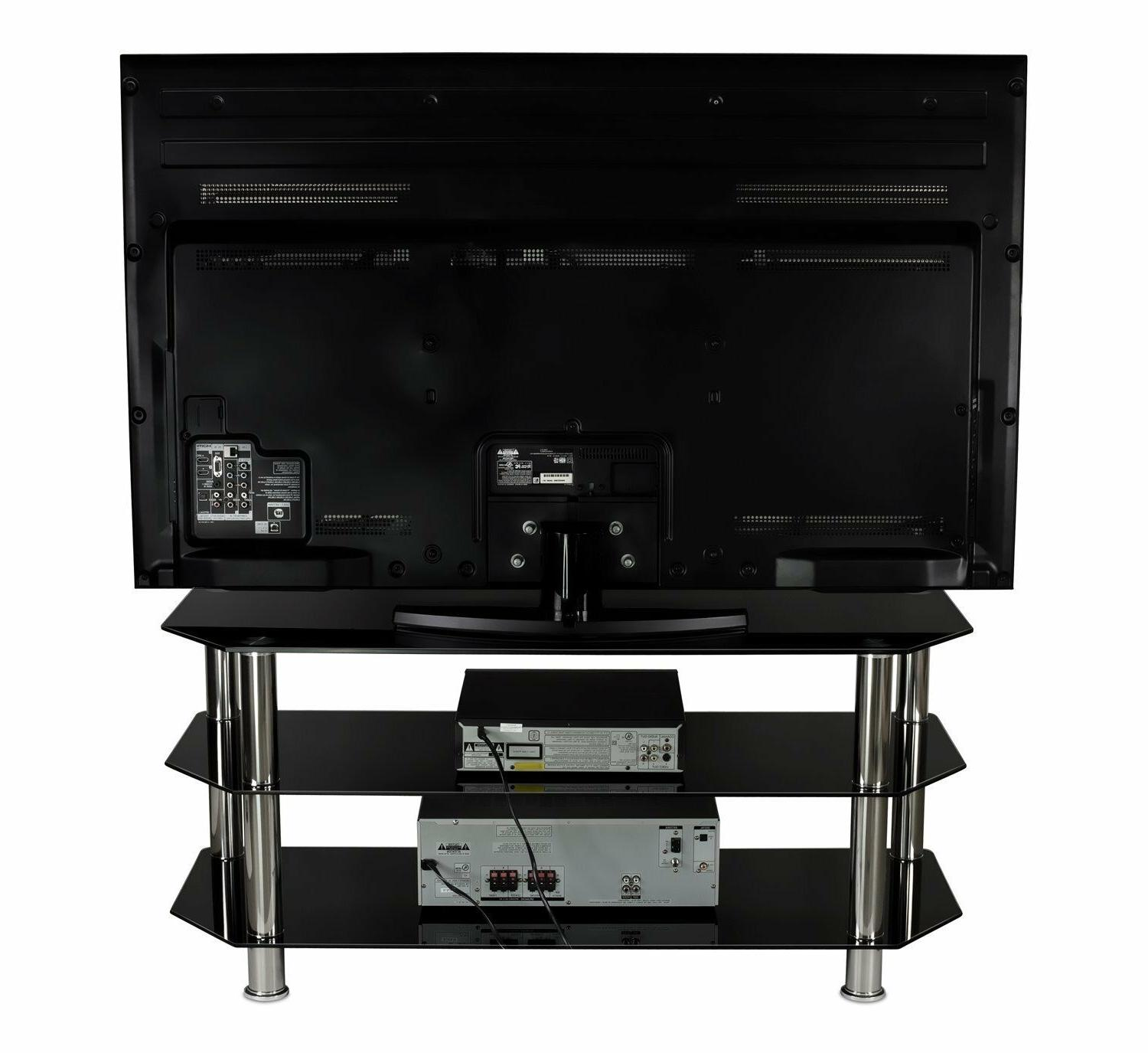 Mount-It! Stand Tempered Shelves TV to Inches