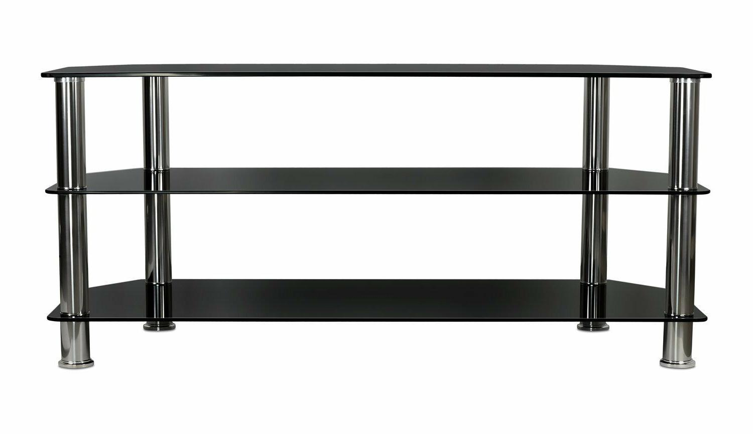 Mount-It! Glass Stand Tempered Glass Shelves For TV to 60