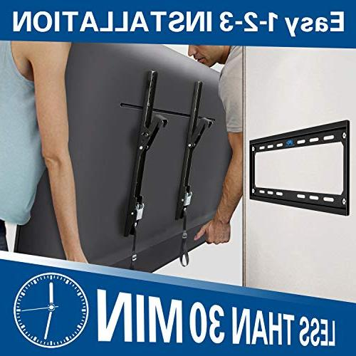 Mounting Dream TV Mounts Tilting Bracket 26-55 Inch TVs up VESA 400 400mm 88 LBS Loading Capacity, TV with Unique Strap Design Lock Release
