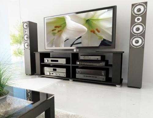 Sonax FS-3580 TV Stand, Midnight Black