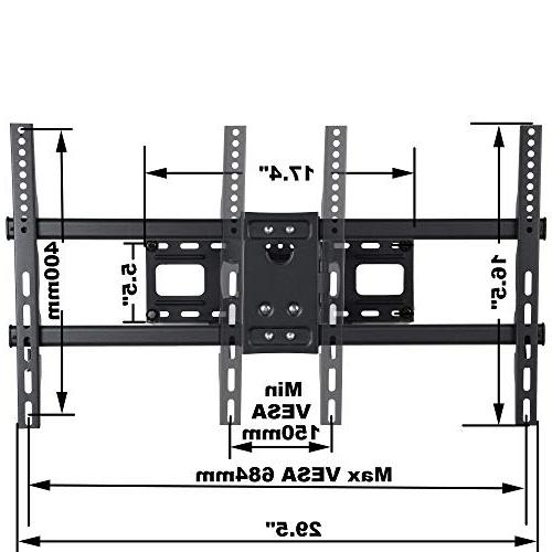 "VideoSecu MW380B5 Articulating TV Mount Bracket LED Up lbs with 684x400 400x400 Arm Pulls Out Up 14"" AW9"