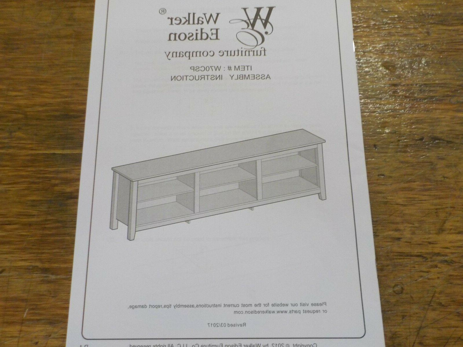 WE Furniture TV Media Stand Console -