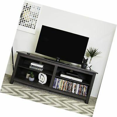 "WE Furniture 58"" Wood TV Media Stand Storage Console - Tradi"