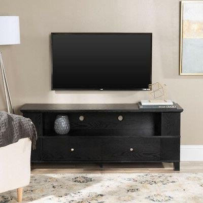 "Walker Edison 58"" Black Wood Storage TV Cabinet"