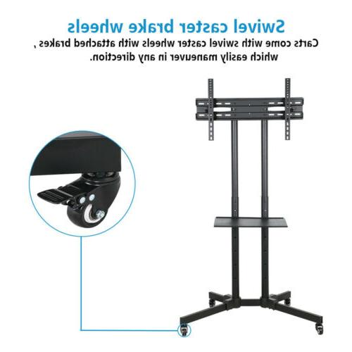 "TV Cart Stand Plasma LCD Flat Panel w/ Fits 32""to"