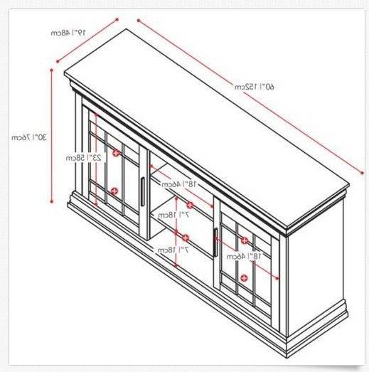 Sonax Carson 60-Inch Wood TV/Component